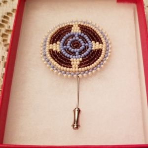 Hand Made Beaded Stick Pin or Tie Pin